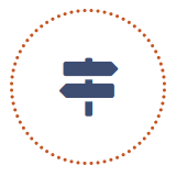 Ceci est un pictogramme illustrant la deuxième étape de l'accompagnement des dirigeants de tpe et pme réalisé par NaGa Conseil.
