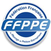 Ceci est un logo de la fédération française de pilotage des petites entreprises.